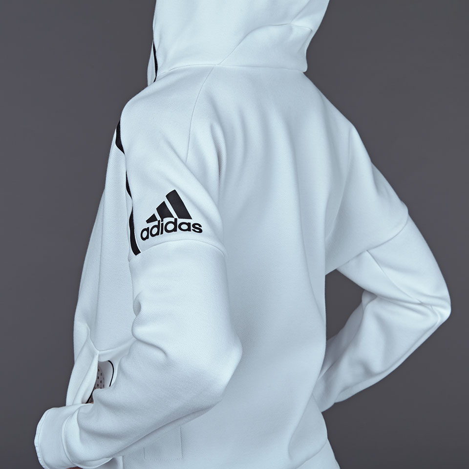 NWT Women Adidas ZNE Hoodie Zip Up White S94564 ...