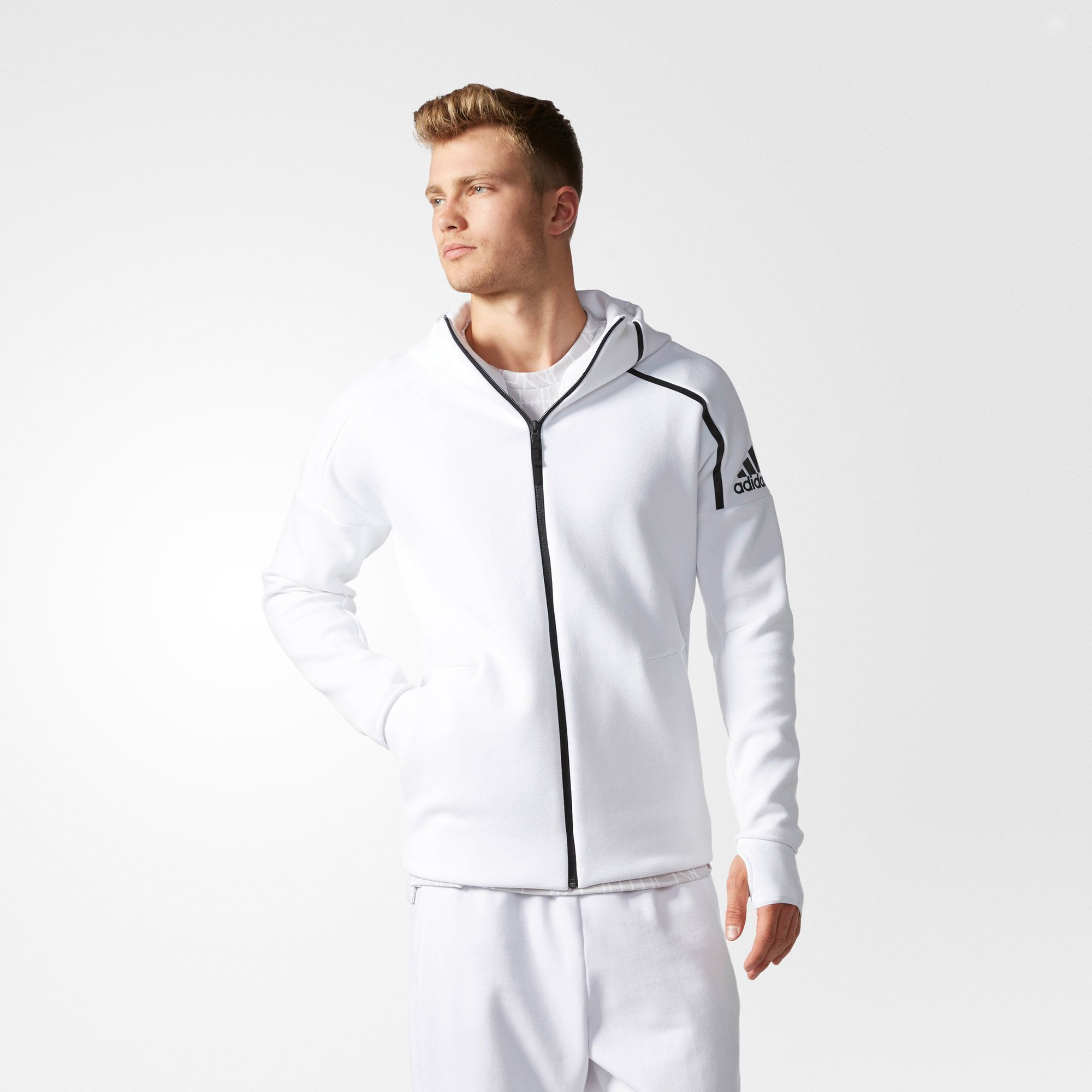 Vacante orgánico Comparar  Adidas Mens ZNE Hoodie Zip Up Jacket B48878 Negative Engergy ...