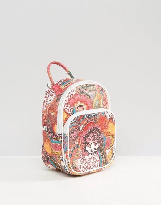 1168e94875 Adidas Originals MINI Classic Farm Flowers Backpack BK7072 Women ...